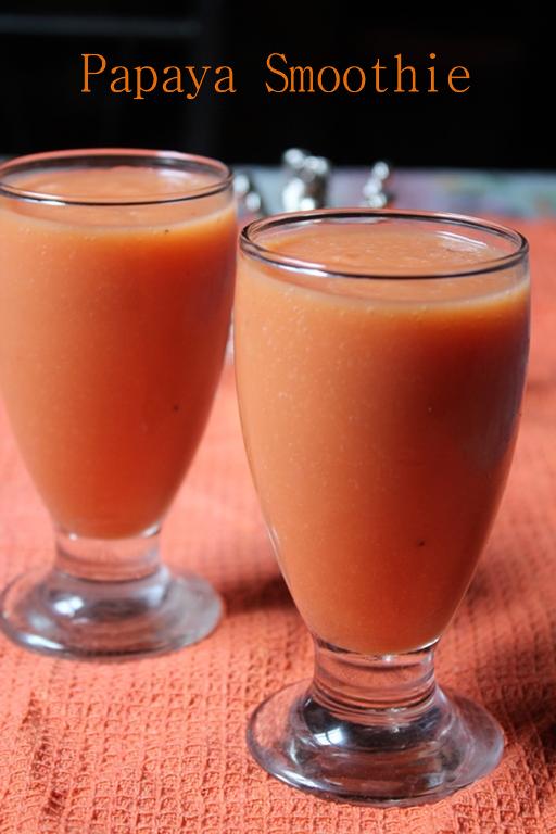 Papaya Smoothie Recipe / Papaya Breakfast Smoothie Recipe - Yummy Tummy