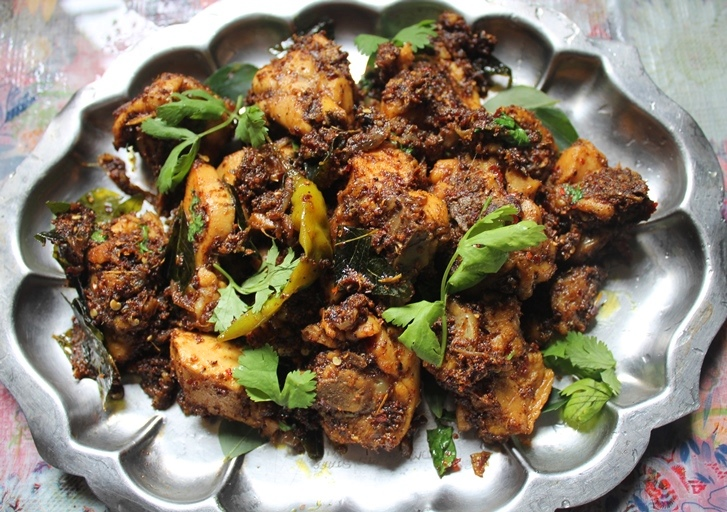 Chettinad chicken roast recipe yummy tummy chettinad chicken roast recipe forumfinder
