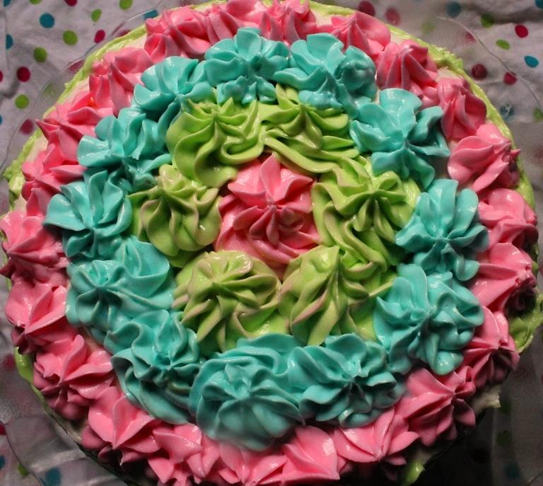 Rainbow Layer Cake Recipe / 6 Layer – Rainbow Birthday Cake – Maha's 1st Birthday Cake