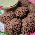 Ragi Idiyappam with Coconut Chutney Recipe / Ragi Sevai Recipe / Finger Millet String Hoppers Recipe