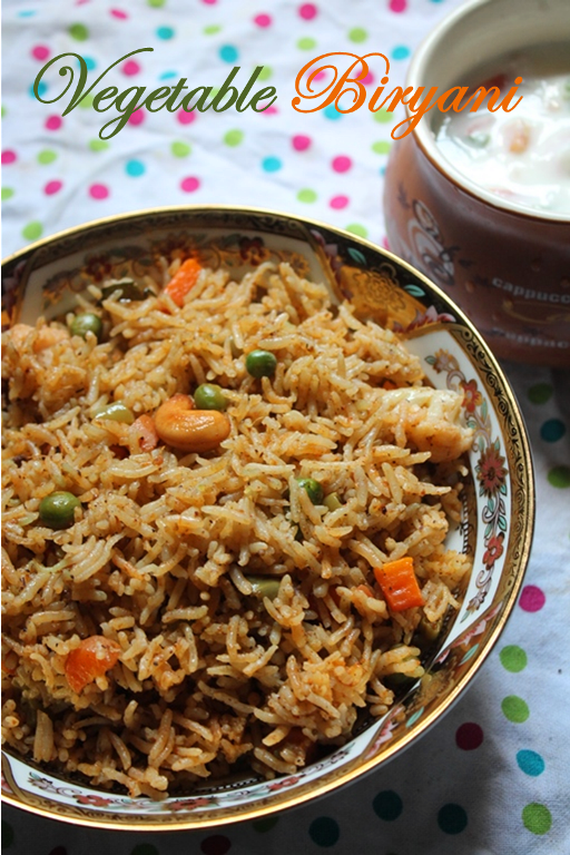 Vegetable biryani recipe vegetable biryani in pressure cooker i wanted to post another version of the best biryani and the biryani like they do in restuarantsi was hunting for the recipe and finally got it forumfinder