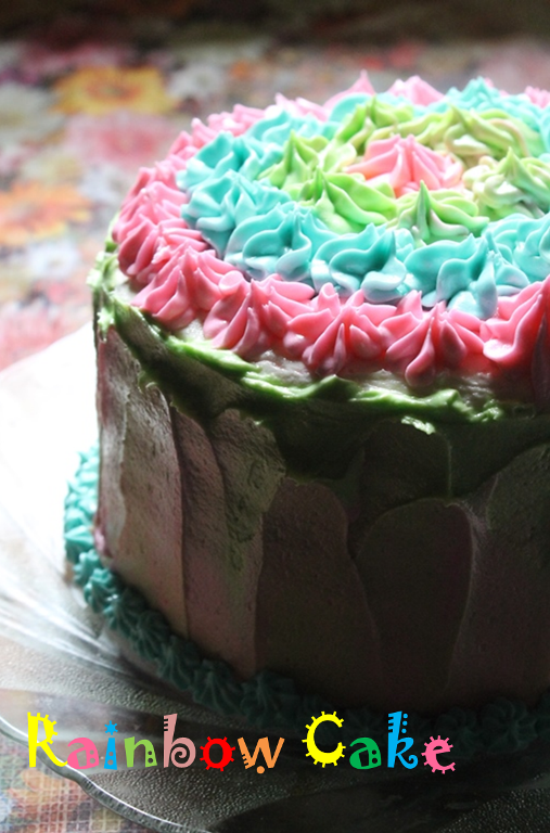 Rainbow Layer Cake Recipe 6 Birthday Mahas 1st