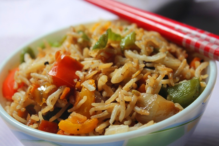 Restaurant style vegetable fried rice recipe veg fried rice fried rice in my opinion is a perfect way to include veggies in your kids diet plus they will love it specially this restaurant style one is just perfect ccuart Images