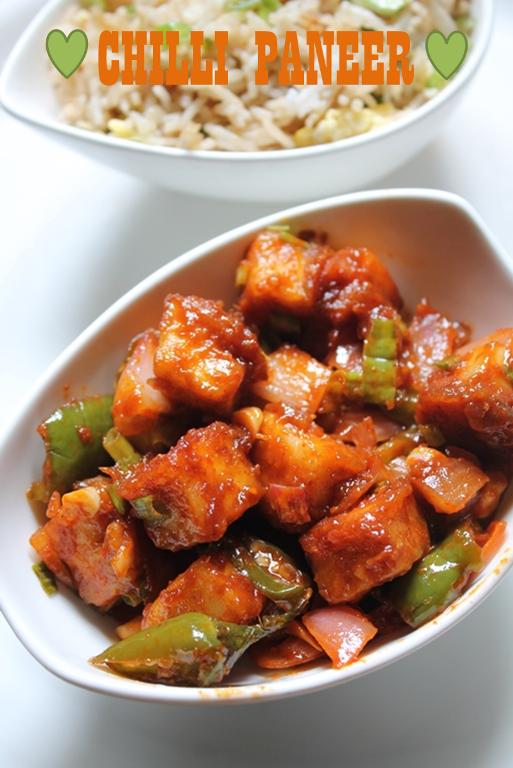 Restaurant Style Chilli Paneer Recipe / Chilli Paneer Dry ...