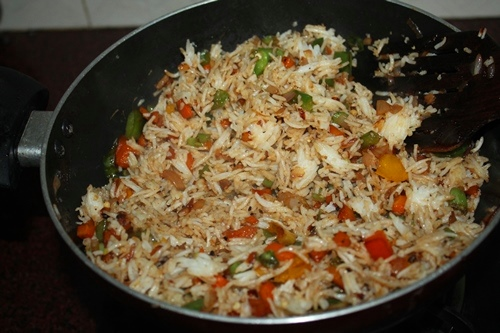 Restaurant style vegetable fried rice recipe veg fried rice recipe stir fry it for 5 mins ccuart Choice Image