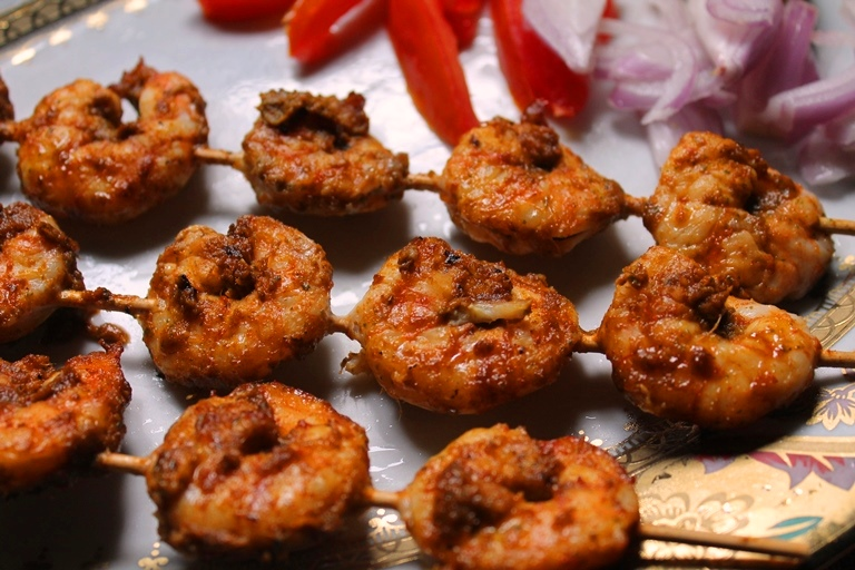 how to make grilled prawns in oven