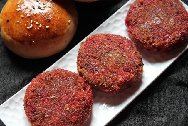 Beetroot & Tofu Cutlet Recipe / Beetroot Burger Recipe