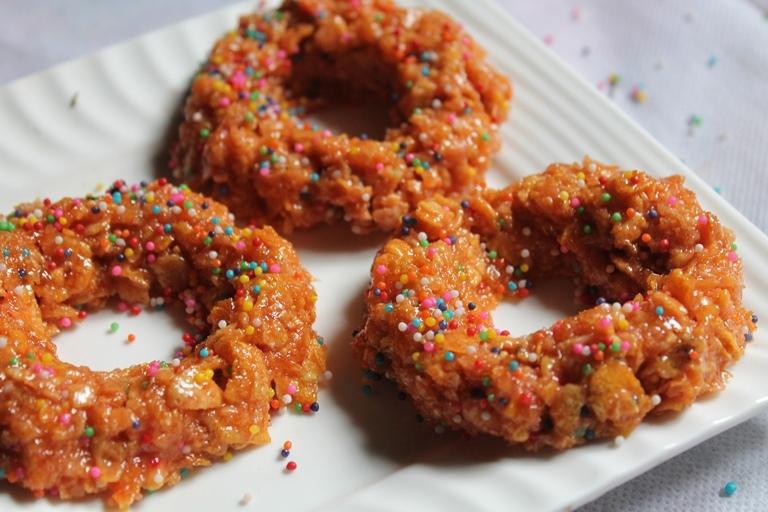 Christmas Cornflakes Wreath Recipe / Cornflakes Wreath Cookies Recipe