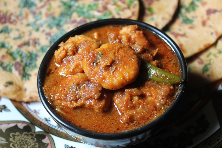 Prawn Curry Recipe / Spicy Prawn Curry without Coconut