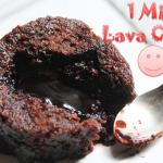 Microwave Eggless Molten Lava Cake Recipe / 1 Min Lava Cake Recipe