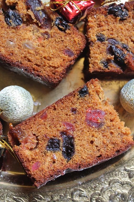 Spiced plum christmas cake