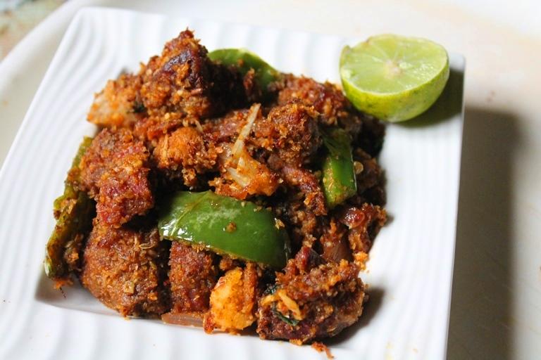 Turkey Coconut Roast Recipe / Vaan Kozhi Varuval Recipe