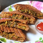 Grilled Vegetable Masala Sandwich Recipe