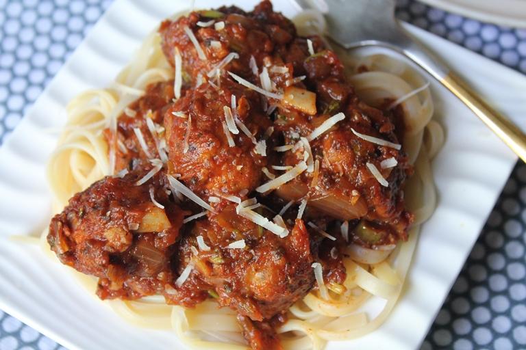 Spaghetti with Meatballs Recipe / Meatball Pasta Recipe