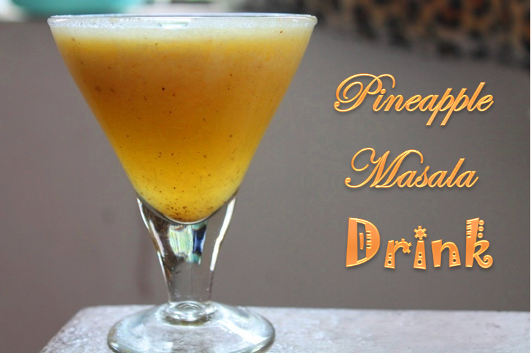 Pineapple Masala Drink Recipe