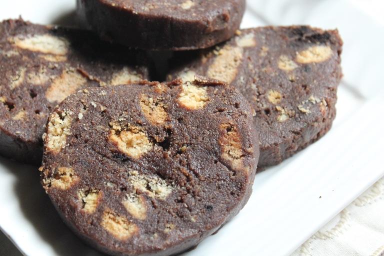 No Bake Chocolate Biscuit Log Recipe
