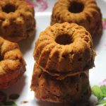 Eggless Carrot Oats Cake Recipe / Mini Carrot Bundt Cakes Recipe