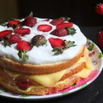 Swedish Summer Cake Recipe / Strawberry Cream Cake Recipe