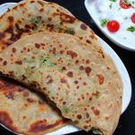 Spring Onion & Cheese Paratha Recipe / Cheese and Spring Onion Stuffed Paratha Recipe