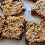 Eggless Strawberry Oatmeal Bars Recipe / Oats Jam Bars Recipe