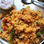 Easy Tomato Rice Recipe – Thakkali Sadam Recipe