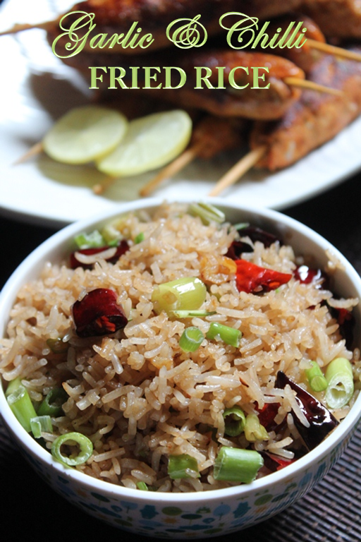Easy garlic chilli fried rice recipe garlic fried rice recipe if you have some leftover rice on hand you can whip this up in minutes a great recipe to put on lunch box and i am sure your kids will love it ccuart Images