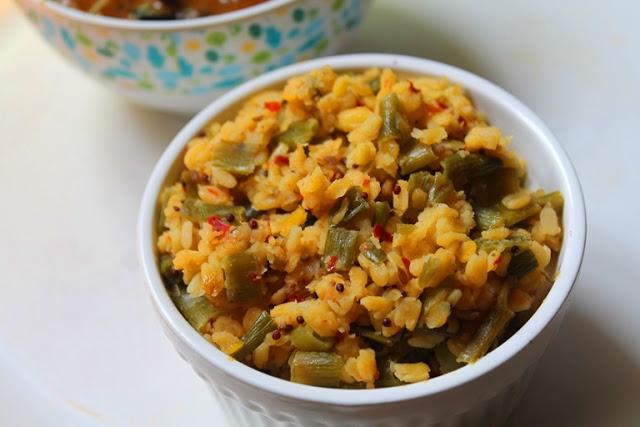 Green Garlic & Moong Dal Stir Fry Recipe