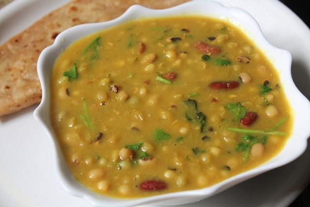 Mixed Legumes Curry Recipe Gujarati Beans Curry Recipe
