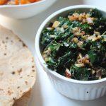 Agathi Keerai Poriyal Recipe / Stir – Fried Spinach with Garlic & Coconut