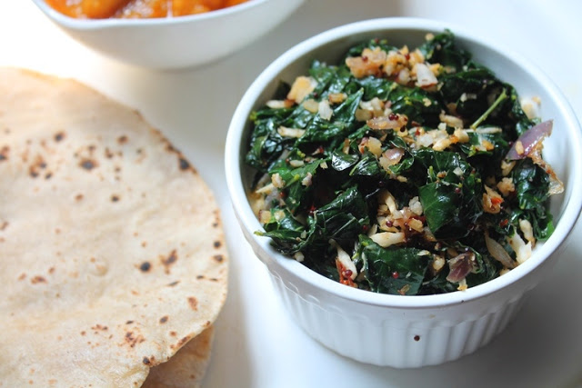 Agathi Keerai Poriyal Recipe / Stir – Fried Spinach with Garlic & Coconut