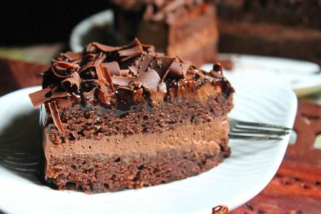 Rich Chocolate Mousse Cake Recipe