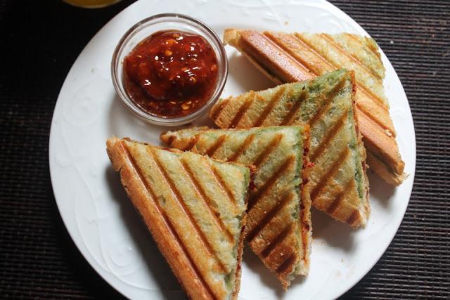 Tri Colour Grill Sandwich Recipe / Tricolour Sandwich Recipe