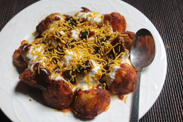 Easy Aloo Chaat Recipe / Mumbai Aloo Chaat Recipe
