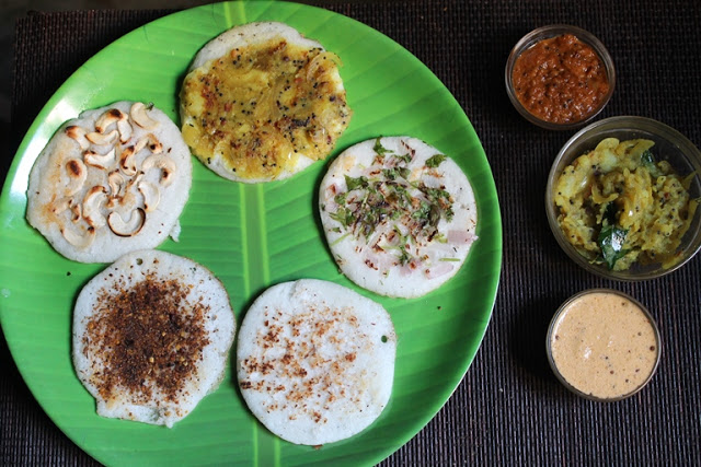 5 Taste Uthappam Recipe / Five Taste Uthappam Recipe / Variety Oothappam Recipes