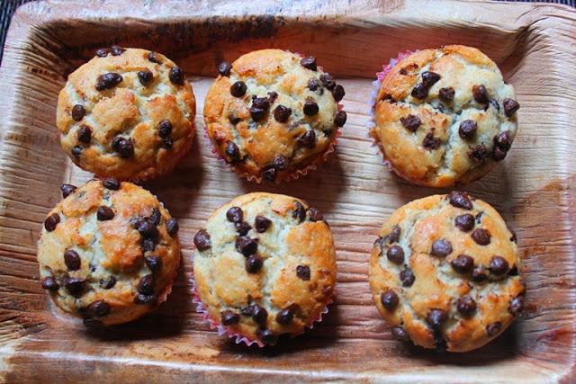 Eggless Chocolate Chip Muffins Recipe / Choco Chip Muffins Recipe
