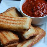 Grilled Cheese Sandwich with Tomato & Coriander Dipping Sauce