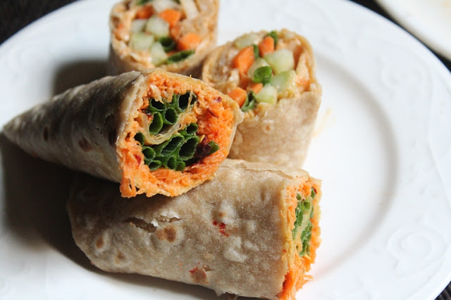 Hummus Carrot Wrap Recipe – Carrot & Hummus Roll Ups