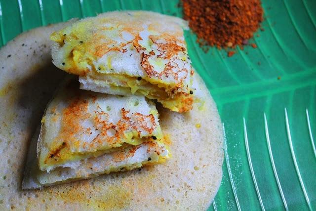 Sandwich Masala Uthappam Recipe