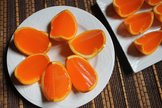 Fresh Orange Jelly Recipe – Orange Gelatin Recipe – Orange Jelly Wedges Recipe