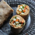 Veggie & Hummus Wrap Recipe – Hummus Wrap Recipe – Hummus Veg Wrap Recipe