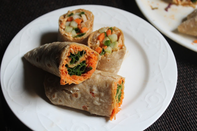 """With just 3 recipes left in the """"party food"""" theme we have going for November, I thought it was time to do something with bold Caribbean flavors. These jerk chicken wraps are excellent as everyday sandwiches for your family or watch your guests make a dash for the platter when you present these."""