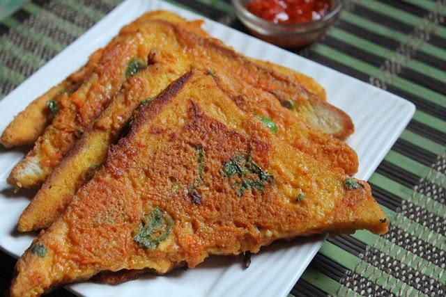 Bread Besan Toast Recipe – Vegetable Besan French Toast Recipe