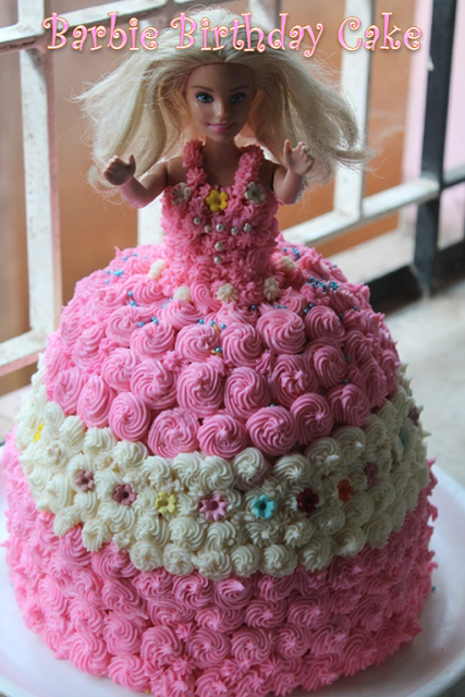 Astonishing Barbie Birthday Cake Recipe How To Make A Barbie Doll Cake At Funny Birthday Cards Online Chimdamsfinfo