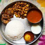 Lunch Menu 8 – Garlic Rasam, Potato Poriyal, Bharwan Tinda, Neer Nellikai & Curd