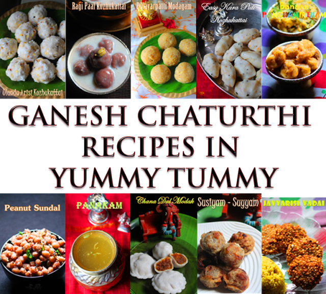 Vinayagar Chaturthi Recipes / 2015 Ganesh Chaturthi Recipes