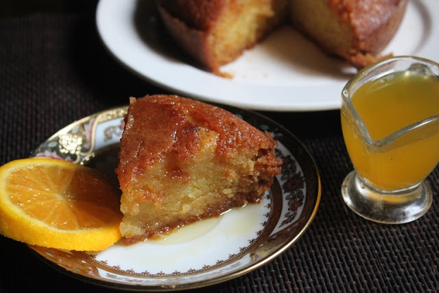 Eggless Orange Syrup Cake Recipe