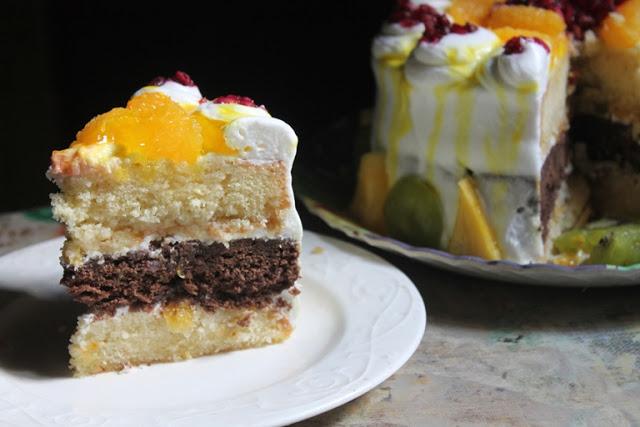 Vanilla and Chocolate Layer Cake Recipe