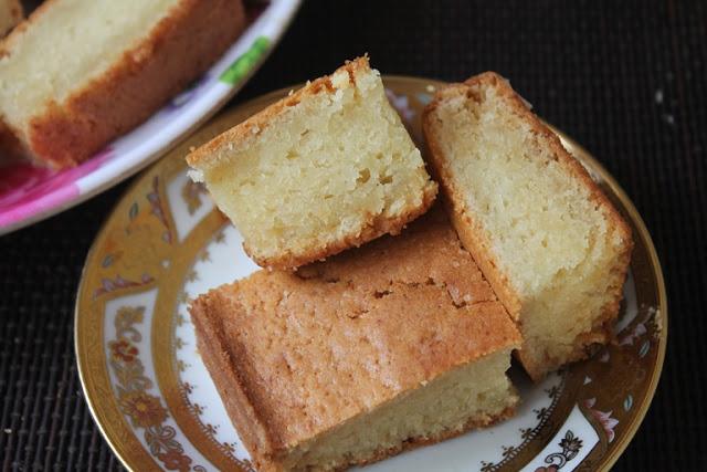 Eggless Sour Cream Cake Recipe