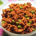 Quick Chicken Keema Matar Recipe – Stir Fried Minced Chicken with Green Peas