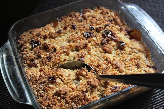 Pear and Cherry Crisp Recipe – Pear Cherry Crumble Recipe